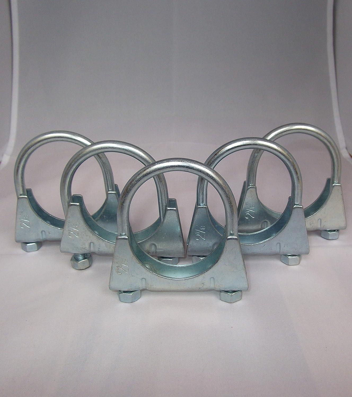 5 St/ück Universal Auspuffschelle B/ügelschelle Rohrschelle U-Bolt Clamp M8 /Ø 40 mm