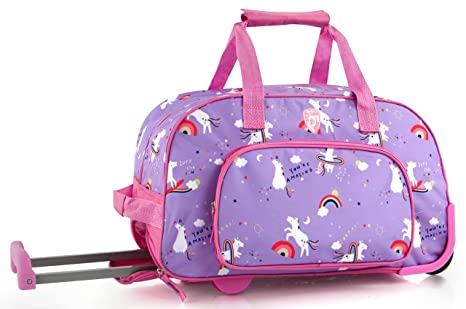 b5048f8f31 Image Unavailable. Image not available for. Color  Heys Kids 18 Inch  Rolling Duffel Bag Shoulder Bag - Unicorn