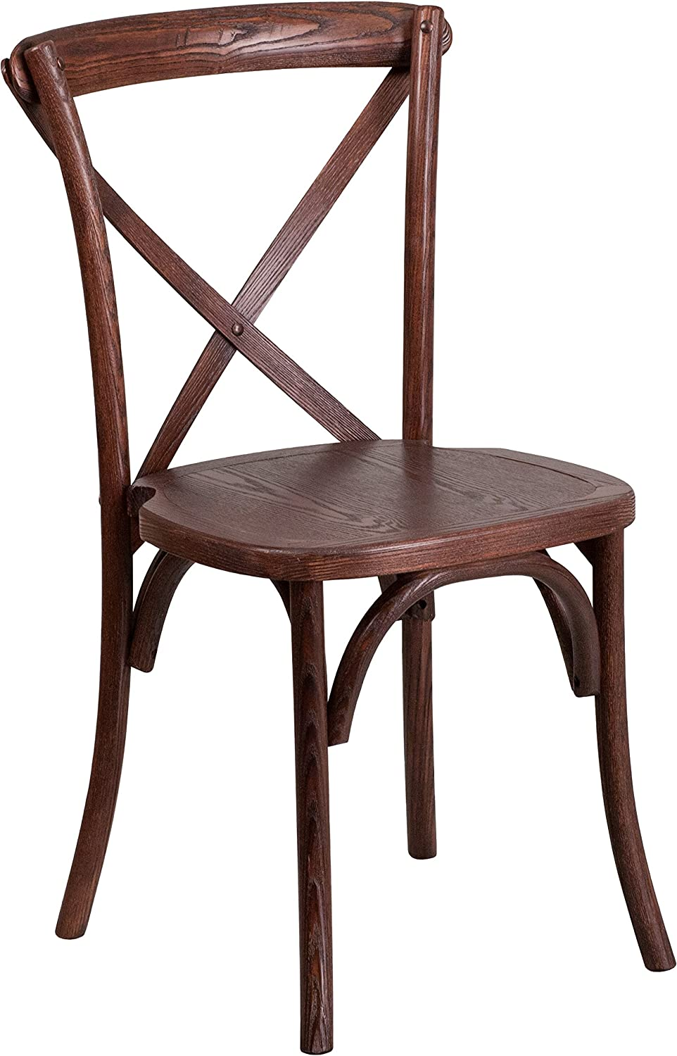 Flash Furniture Mahogany Cross Back chair, 1 Pack