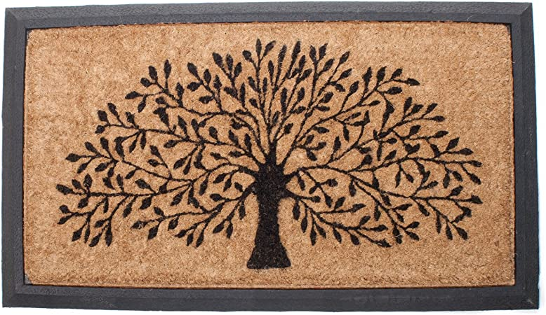 Amazon Com Abbott Collection Coir Tree Of Life Doormat W Border Doormats Garden Outdoor