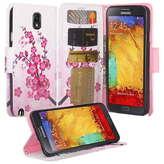 brand new fb344 e5981 Samsung Galaxy Note 3 Case - Galaxy Note 3 Magnetic Leather Flip Book  Wallet Pouch Cover, Slim Folio with Kickstand For Samsung Galaxy Note 3  Cover - ...