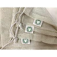 Reusable Organic Cotton Produce Bags - Cotton Mesh Bags for Grocery - Reusable Bags for Vegetable - Organic Cotton Mesh…
