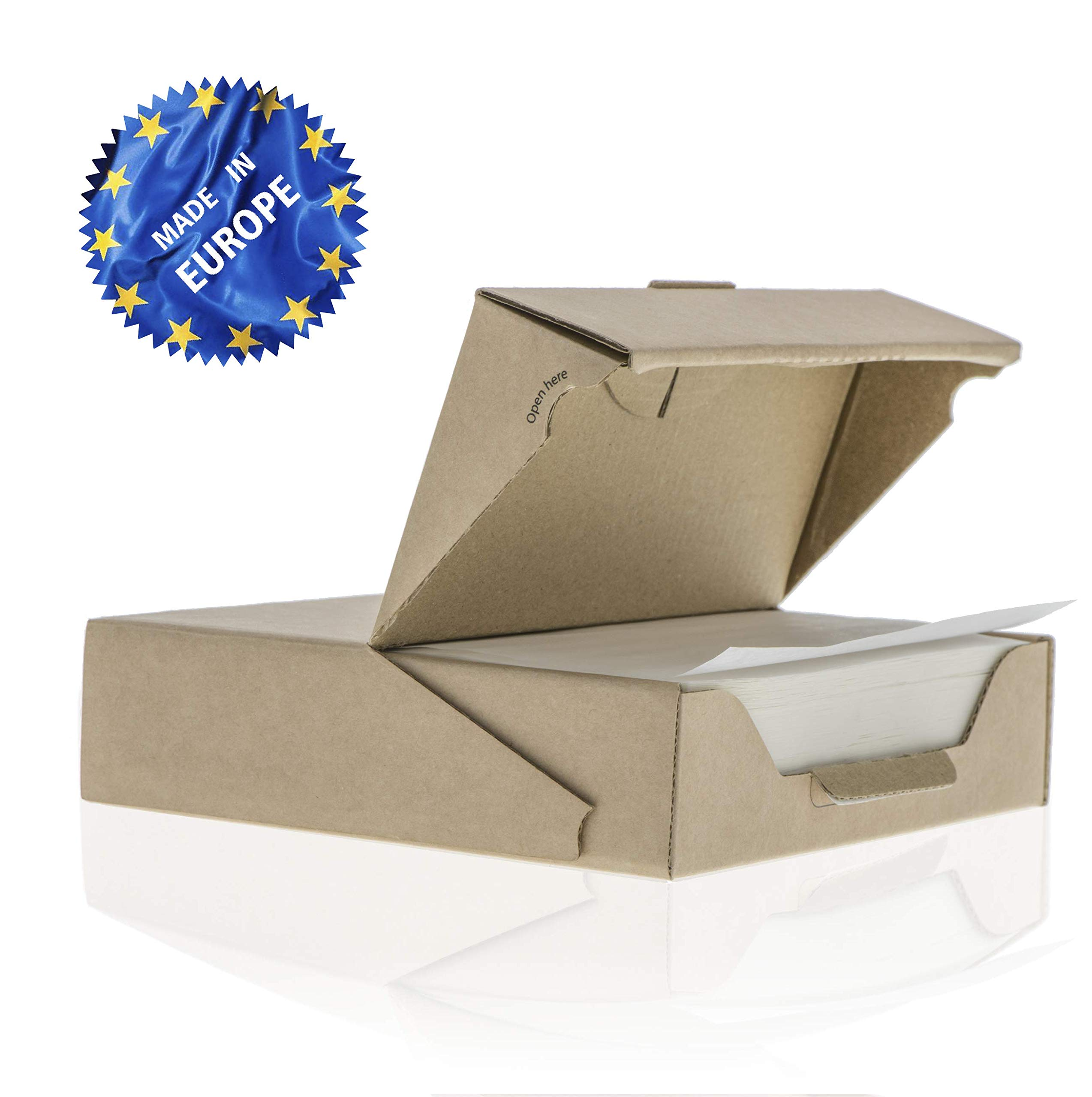 ZeZaZu Parchment Paper Squares - 5.5 x 5.5 inches (500 sheets) - MADE IN EUROPE - for Baking, Hamburger, Diamond Painting Craft | Dual-Sided Coating, Non-stick, Siliconized, Convenient Dispenser Box by ZEZAZU