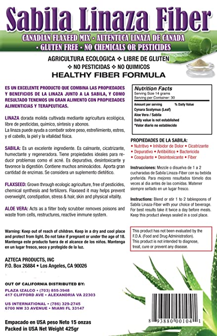 Amazon.com: Sabila Linaza Fiber: Health & Personal Care