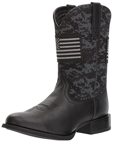 6b8b0933788e6 ARIAT Men's Sport Patriot Western Boot Deer tan/Black camo Print, ...