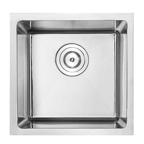 14 u0026quot  bar sink phoenix plz 05 undermount 18 gauge stainless steel square kitchen sink 14   bar sink phoenix plz 05 undermount 18 gauge stainless steel      rh   amazon com