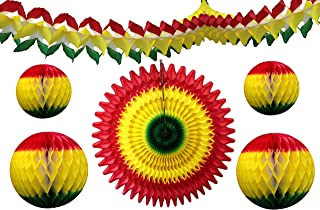 product image for 6-Piece Red Yellow Green Rasta Party Decorations