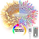 Brizled Christmas Lights, 65.67ft 200 LED Tree Lights Color Changing, 11-Function Warm White & Multicolor Christmas Lights, C