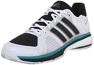 Amazon Com Adidas Energy Boost Tennis Shoes White Black Clear