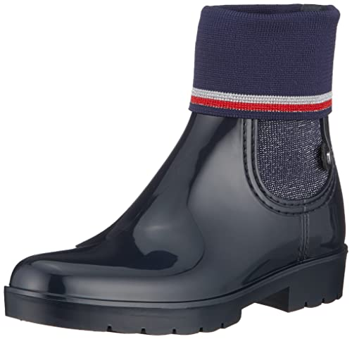 Tommy Hilfiger Knitted Sock Rain Boot, Bottes & Bottines de Pluie Femme