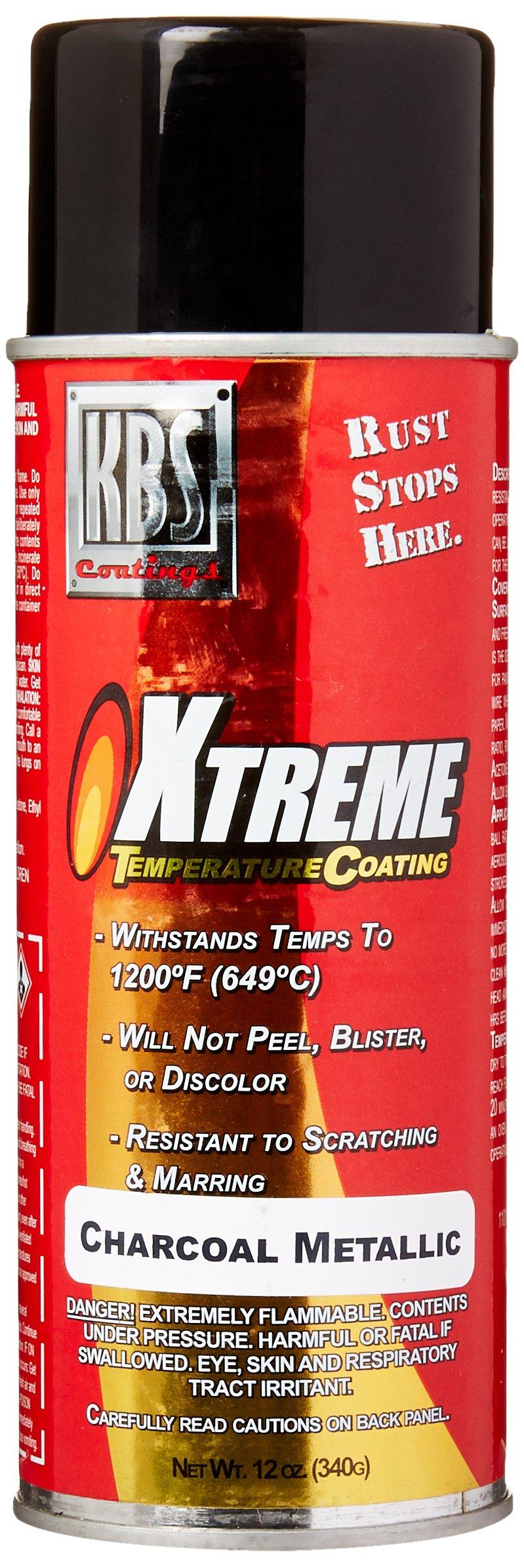 KBS Coatings 65125 Charcoal Metallic Xtreme Temperature Coating - 12 fl. oz.