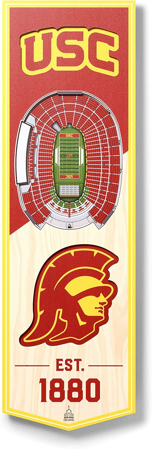YouTheFan NCAA 3D Stadium Banner, 6 x 19 Inches