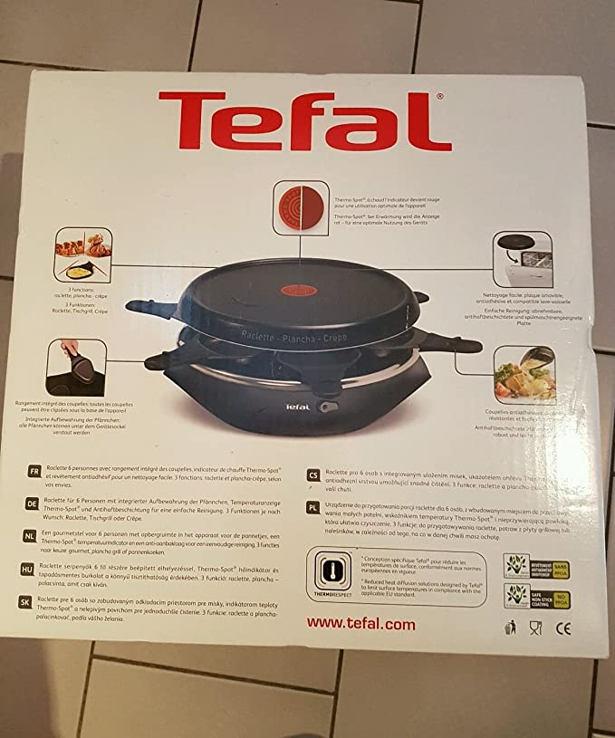 Amazon re Tefal 3 in 1 Raclette Crªpe Tischgrill