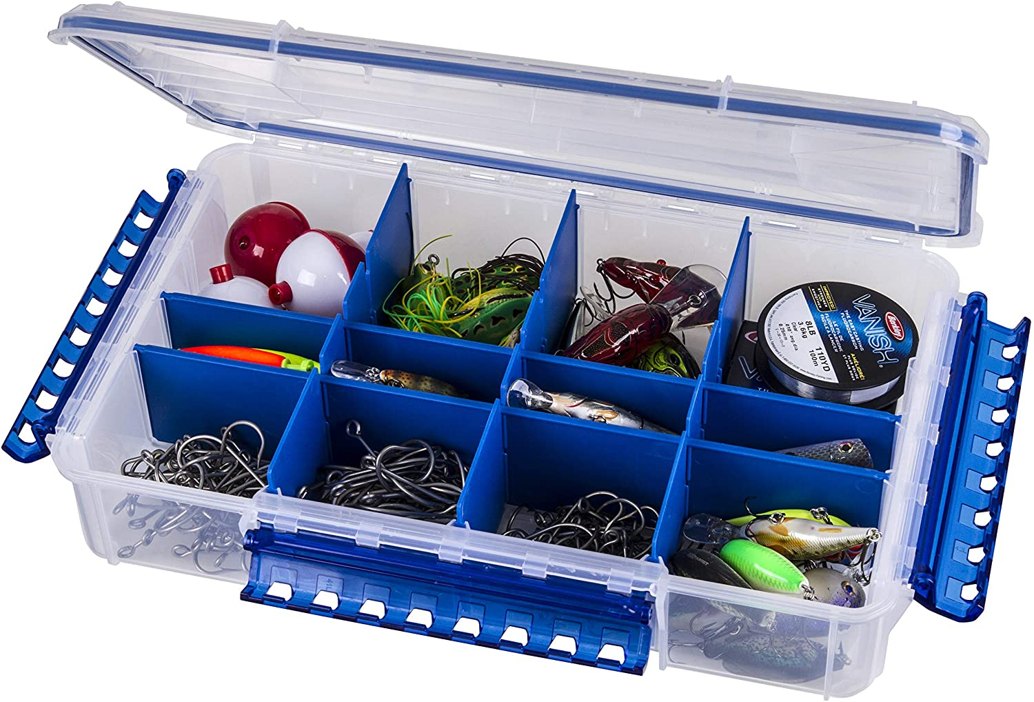 Flambeau Outdoors WP5012 Ultimate Waterproof Tuff Tainer - Double Deep - 16 Compartments (Includes (5) Zerust Dividers): Sports & Outdoors