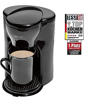 Clatronic KA 3356 Cafetera eléctrica pequeña de Goteo automática, Capacidad de 1 Taza café, 300 W, plástico, Negro: Clatronic: Amazon.es: Hogar