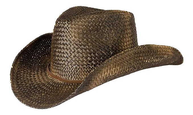 c6b96280e Gamble & Gunn Vintage Style Ladies Cowboy Hat - Distressed Black ...