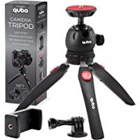 qubo Mini Tripod Camera Holder - Premium Tabletop Small Phone Tripod Mount for GoPro iPhone / Cell Phones Webcam…