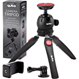 qubo Mini Tripod Camera Holder - Premium Tabletop Small Phone Tripod Mount for GoPro iPhone / Cell Phones Webcam Projector Co