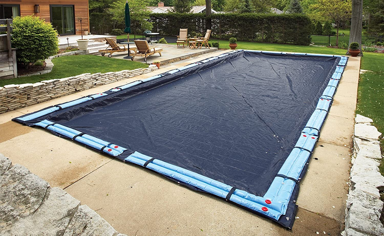 Blue Wave Bronze 8-Year 18-ft x 36-ft Rectangular In Ground Pool Winter Cover Renewed