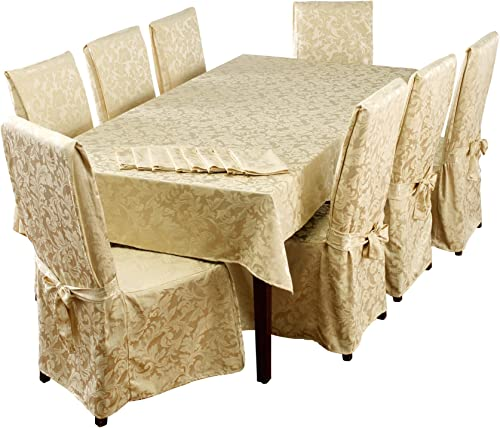 Stylemaster Home Products Genoa 17 Piece Dining Set, Pc 60 x 104 , Ivory
