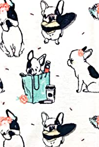 French Bulldog Frenchie Velvet Ultra Soft Plush Throw Blanket by Nico & Freinds