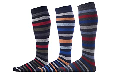 Pierre Henry Socks PHS sobre la pantorrilla calcetines pack (3 pares) - Multicolor -: Amazon.es: Ropa y accesorios