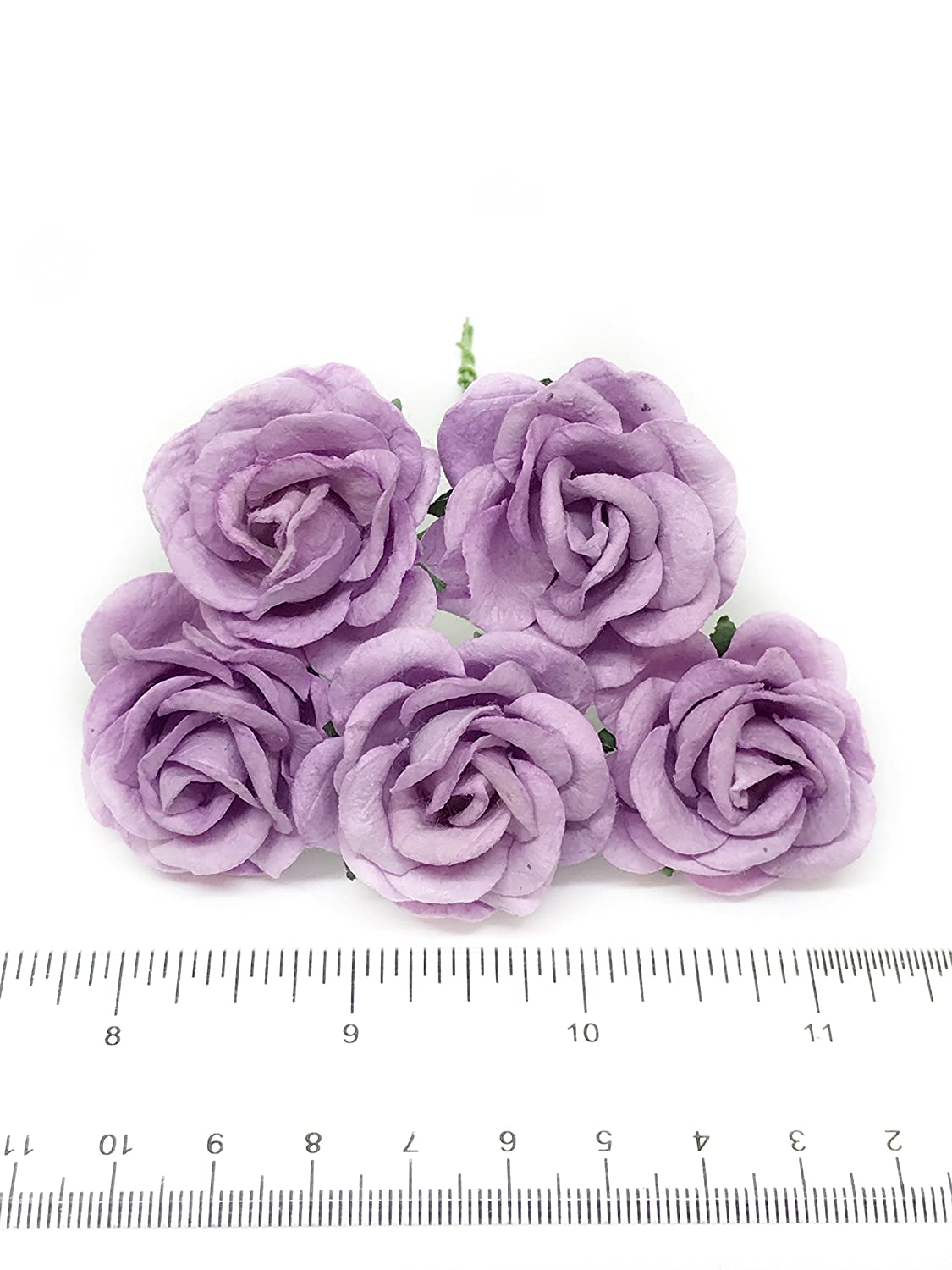 15 Lilac Mulberry Paper Flowers Diy Wedding Flowers Bouquet Purple