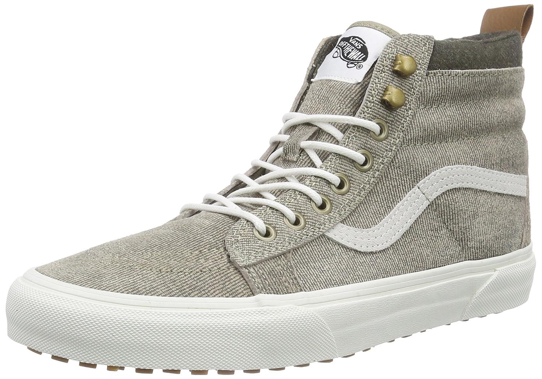 buy vans sk8 hi mte unisex adults hi top sneakers beige blue size 6 0 at amazon in amazon in