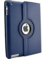 inShang Premium PU Leather Case for iPad 2/3/4Multi-Function PU Leather Stand/Case/Cover for, with sleep wake compatibility - Blau FOR IPAD2/3/4