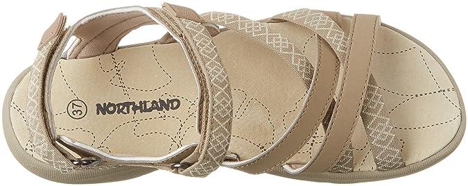 Northland Damen Mia Leather Sandals Sport-& Outdoor, Mehrfarbig (Camel/Sand), 40 EU