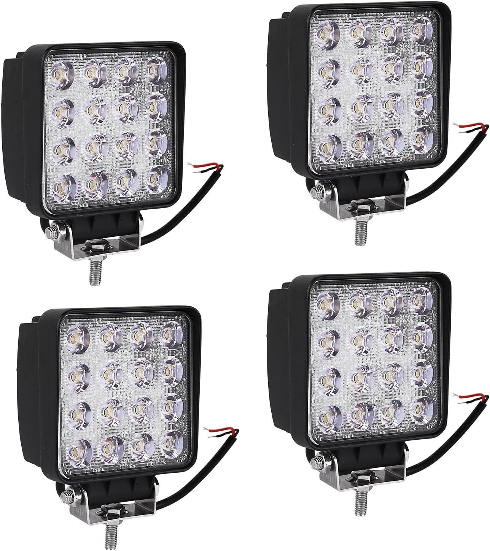 "4/"" 18W Work Light Bar Spot//Flood LED Pods 12V Off Road Tractor 4WD Driving Lamp"