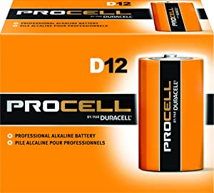 Duracell PC1300 Procell Alkaline-Manganese Dioxide Battery, D Size, 1.5V (Case of 72)