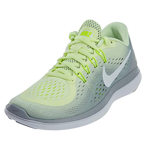 8f0887f27e91 Nike Women s Flex 2017 Running Shoes Barely Volt White-Wolf Grey 8   Amazon.in  Shoes   Handbags