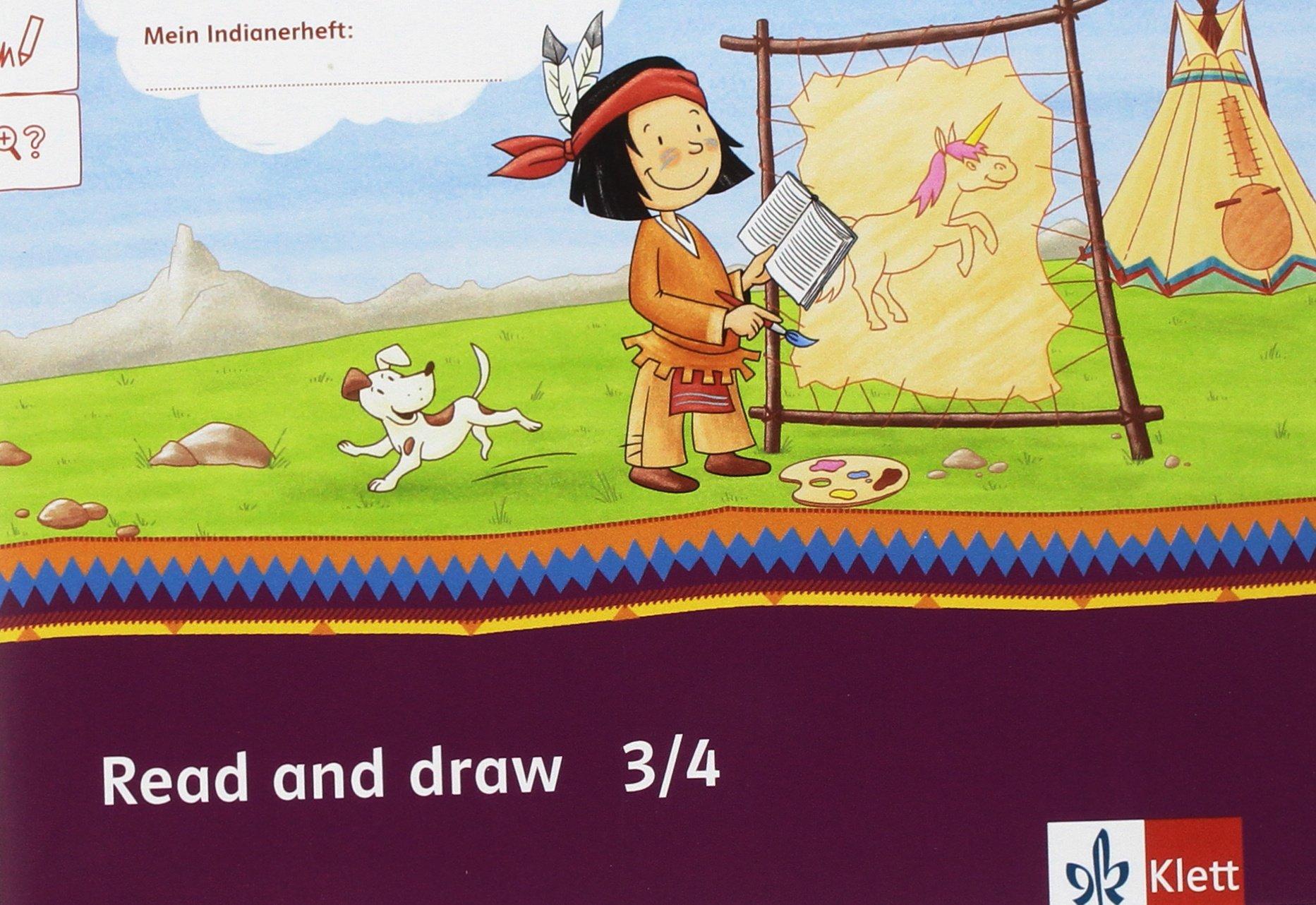 Read And Draw Arbeitsheft Paket Ve 5 Klasse 34 Mein Indianerheft