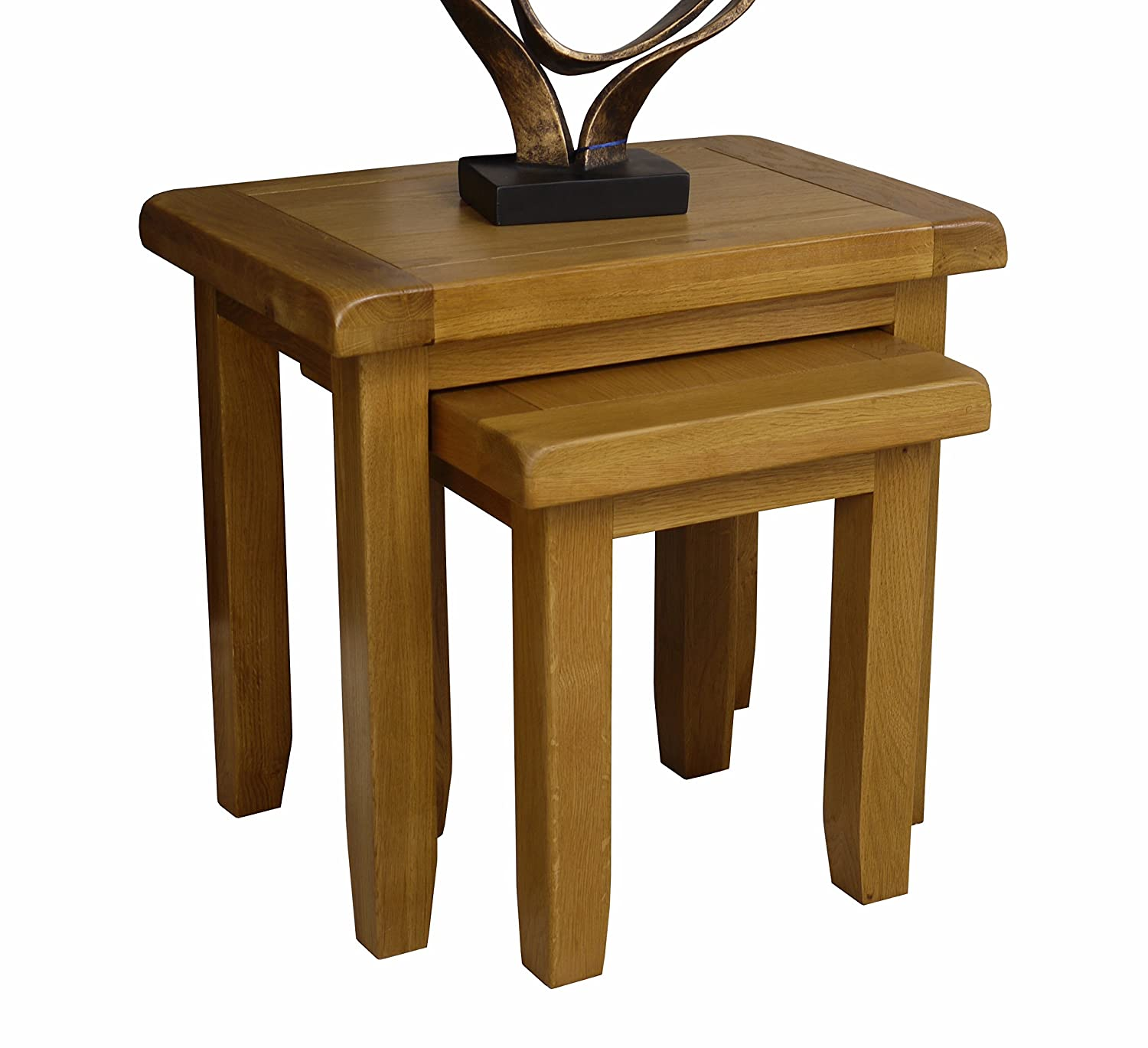 Arklow Oak Nest of Tables/Living Room Storage Nesting Tables