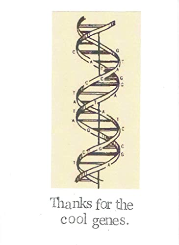 Amazon Thanks For The Cool Genes Science Humor Card Funny
