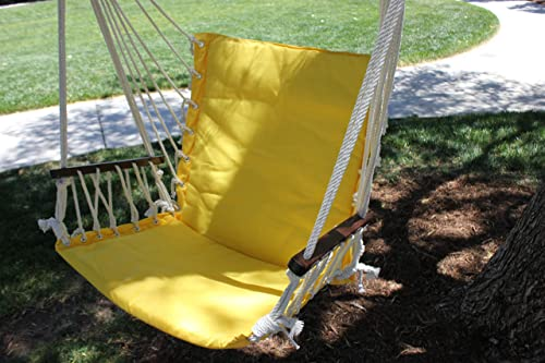 G3ELITE Hanging Hammock Chair Outdoor Swing Bright Yellow