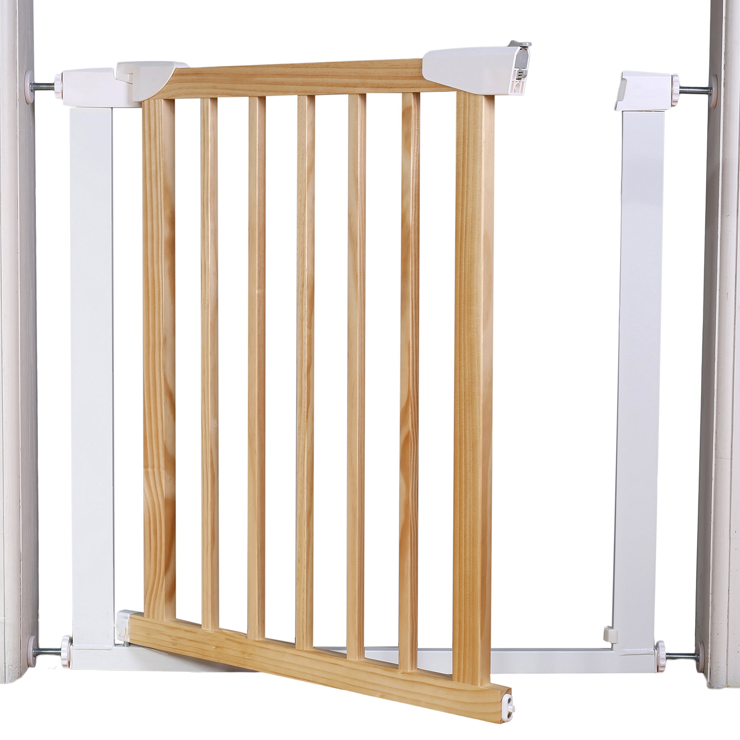 Fairy Baby Multi Use Wood & Metal Walk Thru Gate,White,Fit Spaces between 29.53''-32.28'' by Fairy Baby (Image #3)