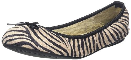 778903bf60e6 Butterfly Twists Women's Penelope Ballet Flats, Black (Zebra), 4 UK 37 EU