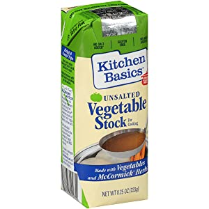 Kitchen Basics All Natural Unsalted Vegetable Stock (Healthy All Natural Alternative to Broth, Certified Heart-Healthy by the American Heart Association), 8.25 fl oz