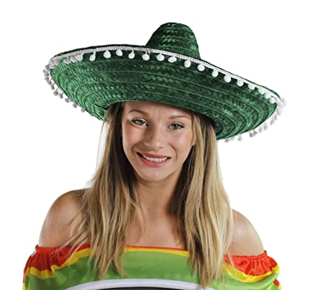 772e81570a0f MENS MEXICAN GREEN SOMBRERO + MOUSTACHE + JUMBO CIGAR FANCY DRESS ACCESSORY  HAT STAG NIGHT HEN PARTY NOVELTY  Amazon.co.uk  Kitchen   Home