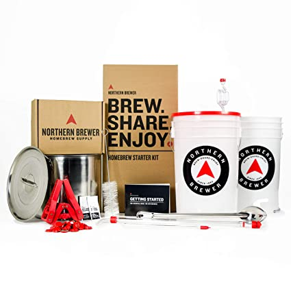 30c35110 Brew. Share. Enjoy. Homebrew 5 Gallon Beer Brewing Starter Kit with Block  Party Amber Ale Beer Recipe Kit and Brew Kettle: Amazon.co.uk: Kitchen &  Home