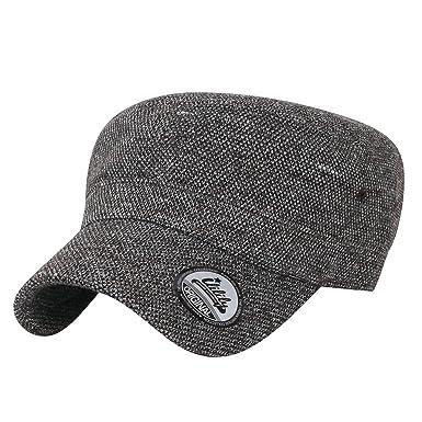 9e4af835921 ililily Mixed Color Military Army Hat Wool-Blend Vintage Cadet Cap ...
