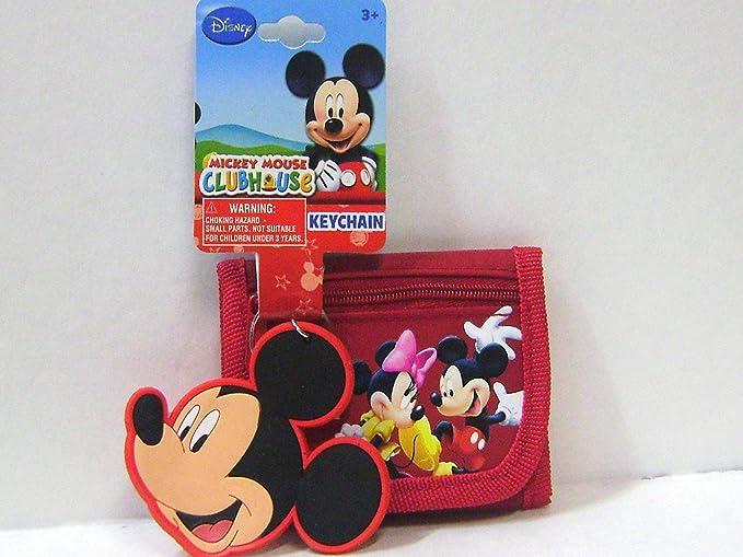 Amazon.com: Mickey Mouse rojo portafolios y llavero para ...