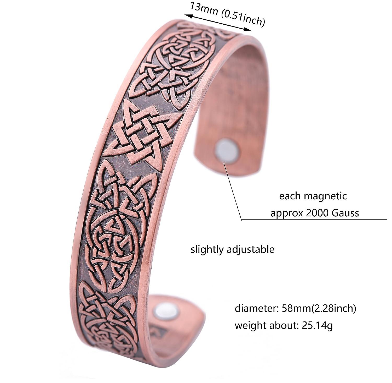 VASSAGO Ancient Amulet Norse Viking Irish Celtic Knot Slavic Star of Russia Healthcare Magnetic Bracelet for Men Women