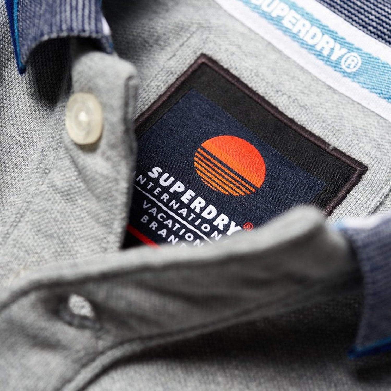 Superdry Mens Sunrise Polo Shirt - Grey - M - Grey: Amazon.es ...