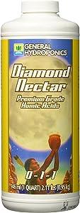 General Hydroponics GH1352 Diamond Nectar 0-1-1 Premium Grade Humic Acid for Soil, Soilless Mixes, Coco & Hydroponics, 1 Quart, Orange