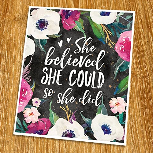 Wall art print Gift Change your thoughts Motivational Quote