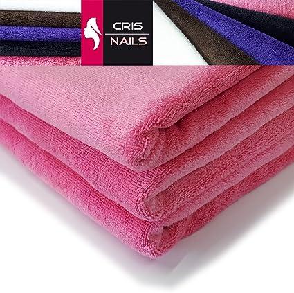 Crisnails® Toallas de Microfibra Secado Rápido para Peluquería Paquete de 3, 35cm x 75cm