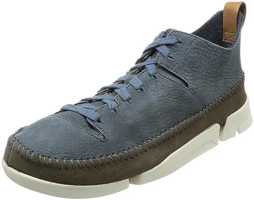 692378a443 Clarks Originals Mens Trigenic Flex Slate Blue Nubuck Trainers 11 UK ...